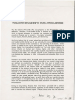 Rwanda National Congress Proclamation