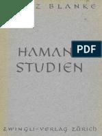 HAMANNSTUDIEN