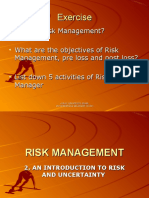 Introduction to Risk and Uncertainty