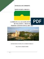 Programa de Gobierno Villanueva Bolívar 2020-2023