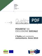 Quaderniricercasociale3_povertà e esclusione italia 2010