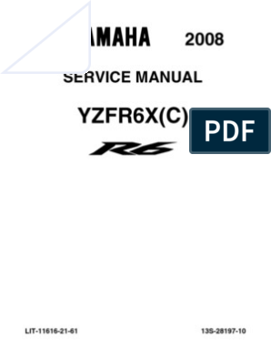 R6 Service Manual 08-09 | Throttle | Fuel Injection