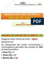ANALISE DE ANIOES
