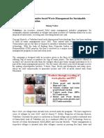 Incentive based waste mgmt - Manoj
