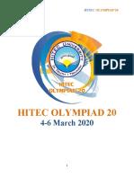OLYMPIAD RULEBOOK 2020