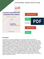 FinanceInternationaleet Gestion des Risques