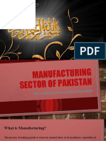Manufacturing sector of pakistan