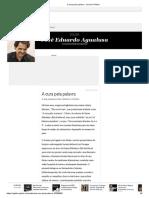 A cura pela palavra - Jornal O Globo