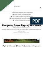 Hangman Game Days of the Week - ESL Kids Games