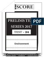 Environment Mock test UPSC Prelims
