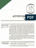Attitudes & Values OB