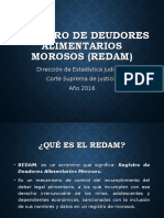 Registro de Deudores Alimentarios Morosos (Redam) Animado
