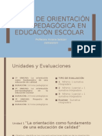 Taller de Orientación Psicopedagógica en Educación Escolar