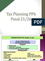 Tax planning PPh Pasal 21