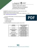Selección JTP Cartelera 2019