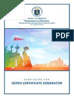 Certificate Generator UserGuide