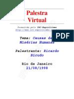 Ricardo Bicudo - Causas das Misérias Humanas - [ Espiritismo]