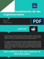 Internacionalización de las organizaciones