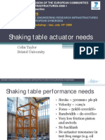 TAYLOR - JRA1 Iasi Workshop Shaking Table Actuator Needs