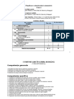 Planificare calendaristica clasa I Editura EDU