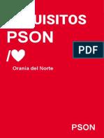 Requisitos PSON negociación