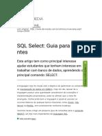 SQL Select_ Guia para Iniciantes
