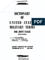 Dictionary of the US Military Terms for Joint Usage, 1950