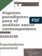 Sociología (Funcionalimo Estructural)
