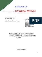 Bajaj vs Hero Honda Yash