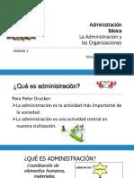 Unidad 1.- La Administración y la Organización