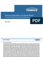 Teneco Federal Merger