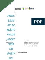 PROCESOS SISTEMATICOS DE AUDITORIA DEL PASIVO