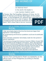 Life and works of Rizal ppt