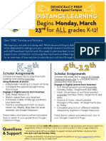 Distance Learning Overview 3.19.20