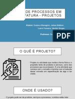 manufatura - projeto