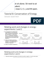 Tutorial 8 - conservation of energy