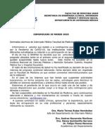 Facultad de Medicina UNAM sobre COVID-19