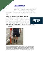 Acoustical Leak Detectors