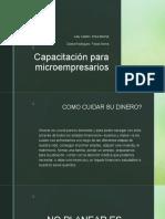 Capacitación para microempresarios