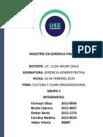 Cultura y Clima Organizacional, Grupo 1..pdf
