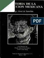 Abad de Santillán, D. Historia de la Revolución Mexicana
