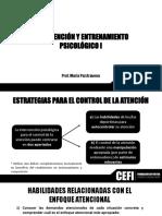 CLASE 10 ESTRATEGIAS PARA EL CONTROL DE LA ATENCION-CONCENTRACION