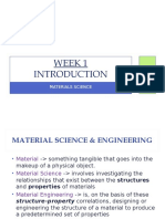 L-1, Introduction to Material Science