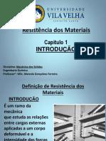 AULA 1 - RESISTÊNCIA DOS MATERIAIS