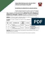 ACTA PRESTAMO DE MATERIALES SOBRANTES DE ALMACEN CENTRAL