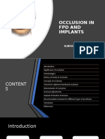 Occlusion in FPD and IMPLANTS