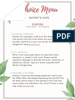 gatsby choice menu