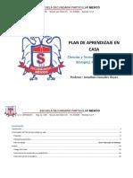 PLAN DE CLASE SECUNDARIA BIOLOGÍA