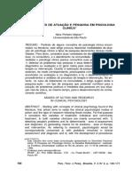 MEJRAS - Modalidades de atuação e pesquisa em psicologia clínica