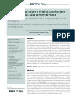 AZEVEDO - CONSIDERAÇÕES SOBRE A MEDICALIZAÇÃO UMA PERSPECTIVA CULTURAL CONTEMPORÂNEA